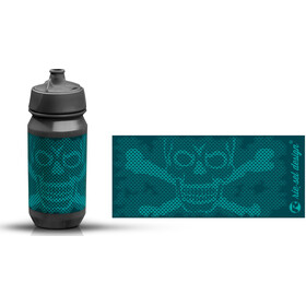 rie:sel design bot:tle 500ml skull honeycomb blue